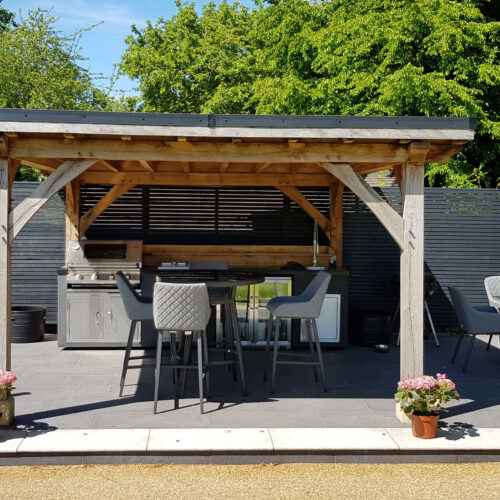 Outdoor kitchen and family garden- Newcastle under Lyme